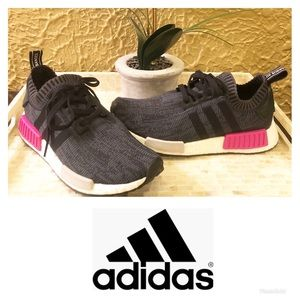 Adidas Pink & Gray NMD R1 Primeknit Boost Shoes 🌸